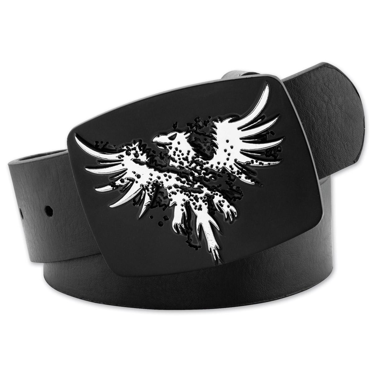 Westside Accessories Men's Eagle Black Leather Belt