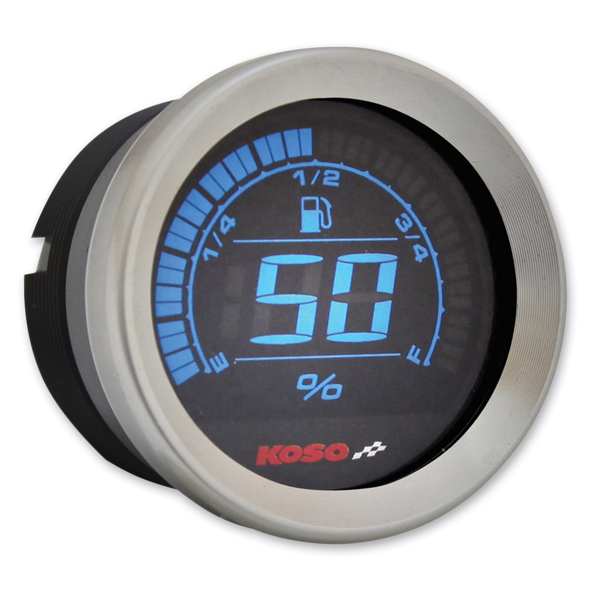 koso 2 u2033 chrome fuel gauge