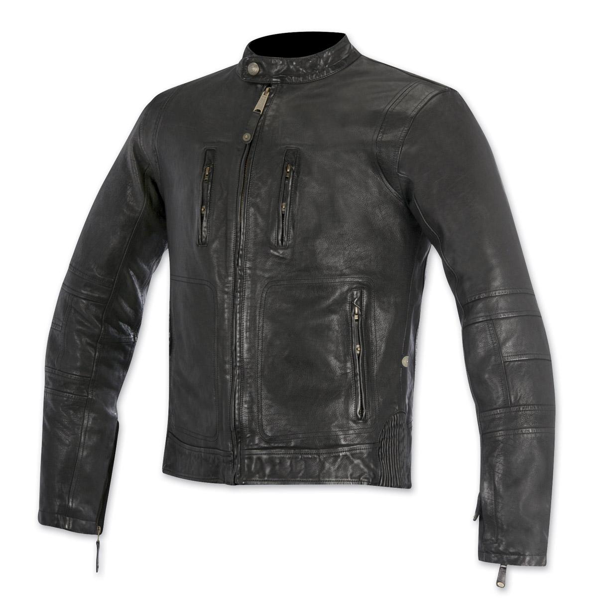 Alpinestars Oscar Men's Brass Black Leather Jacket