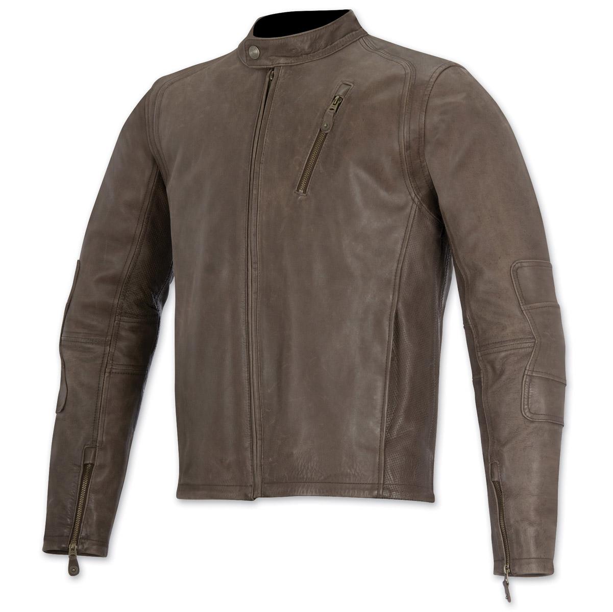 Alpinestars Oscar Men's Monty Brown Leather Jacket