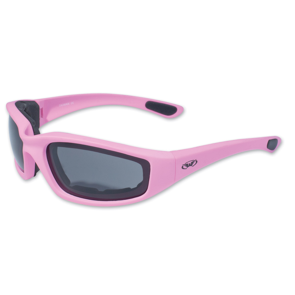 Global Vision Eyewear Fight Back 1 Pink Sunglasses with Smoke Lens