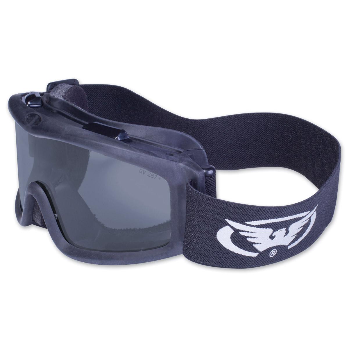 Global Vision Eyewear Ballistech 2 Black Goggles with Smoke Lens