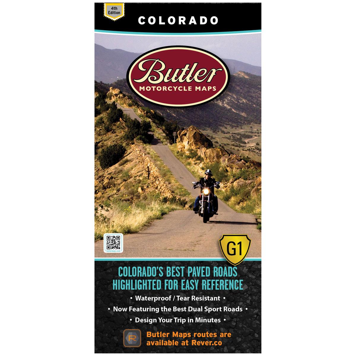 Butler Maps G1 Colorado Motorcycle Map