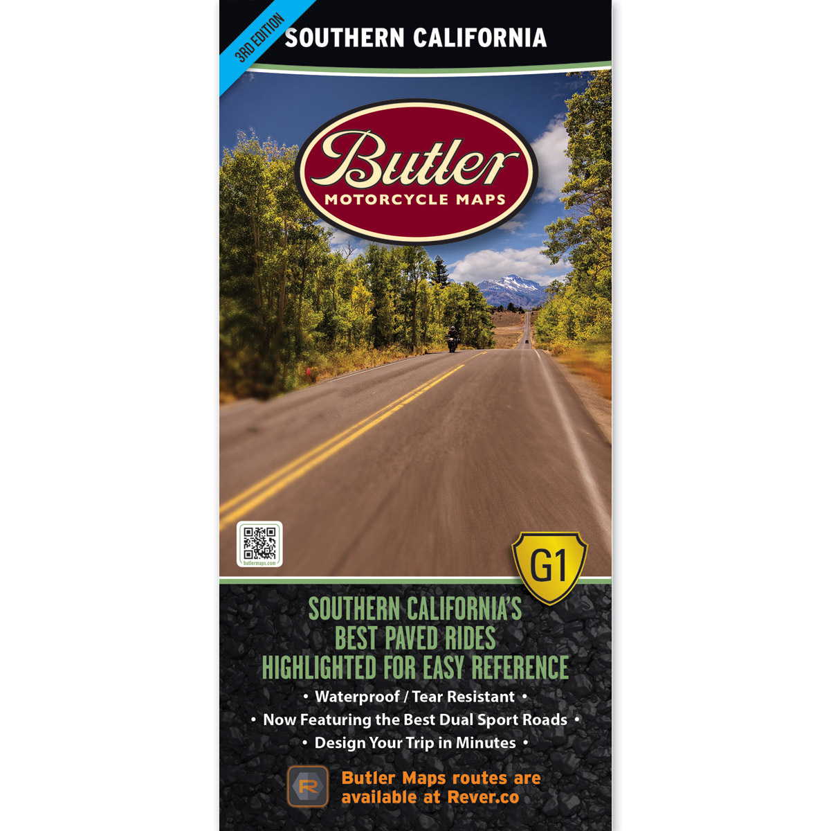 Butler Maps G1 Southern California Motorcycle Map