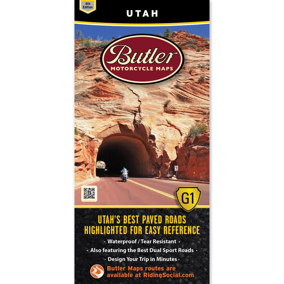 Butler Maps G1 Utah Motorcycle Map