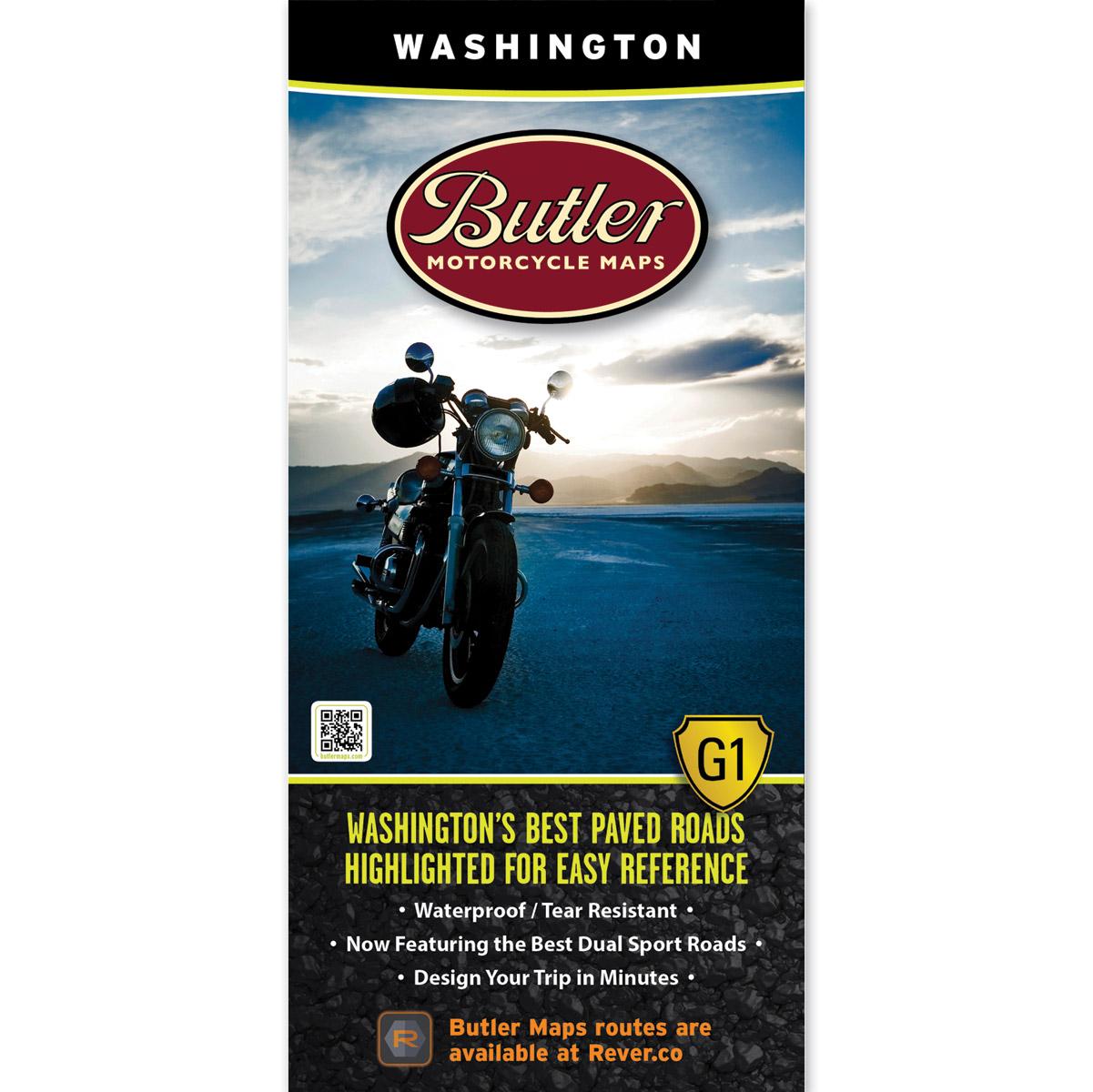 Butler Maps G1 Washington Motorcycle Map
