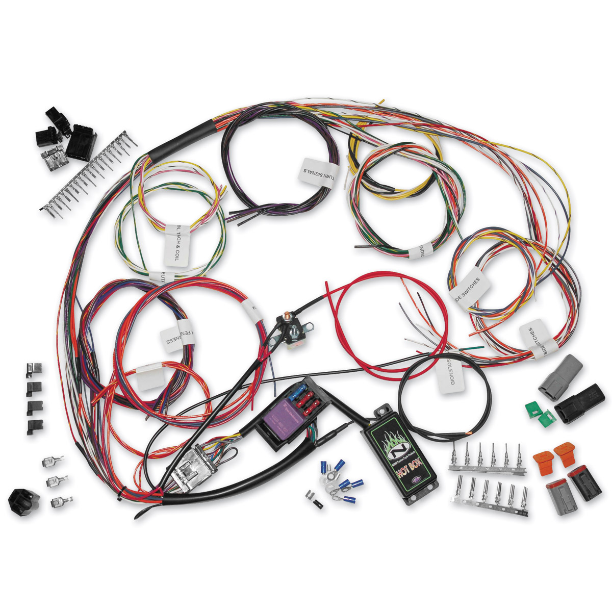745 072_A namz custom cycle complete bike wiring harness kit 745 072 j&p harley wiring harness kits at creativeand.co