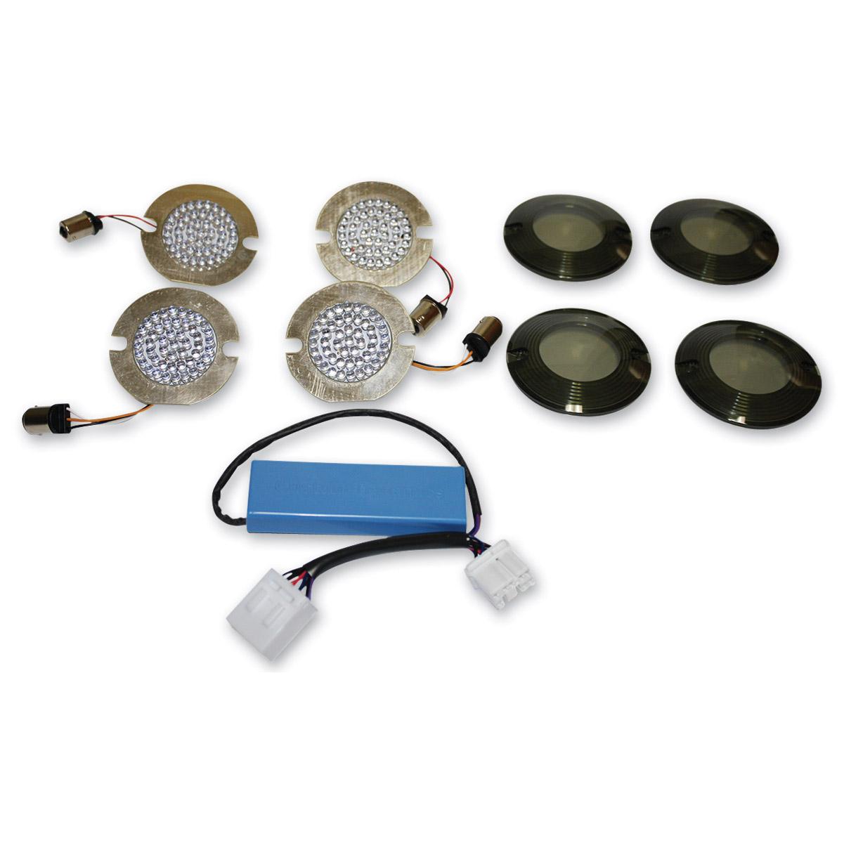 Custom Dynamics LED Turn Signal Conversion Kit with Smoke Lens