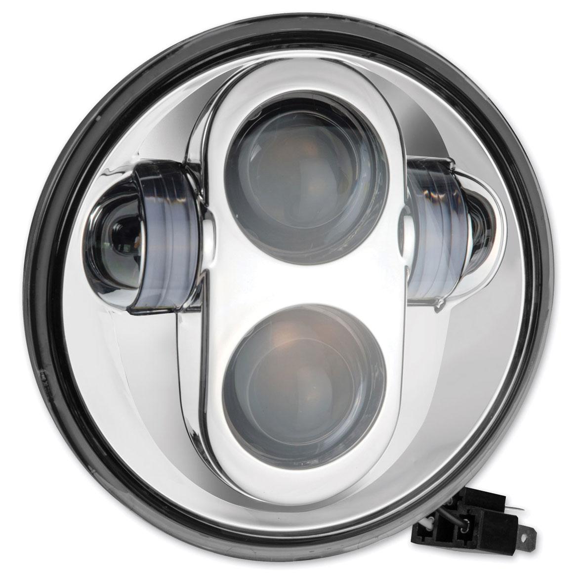 PathfinderLED 5-3/4″ LED Chrome Projector Headlight