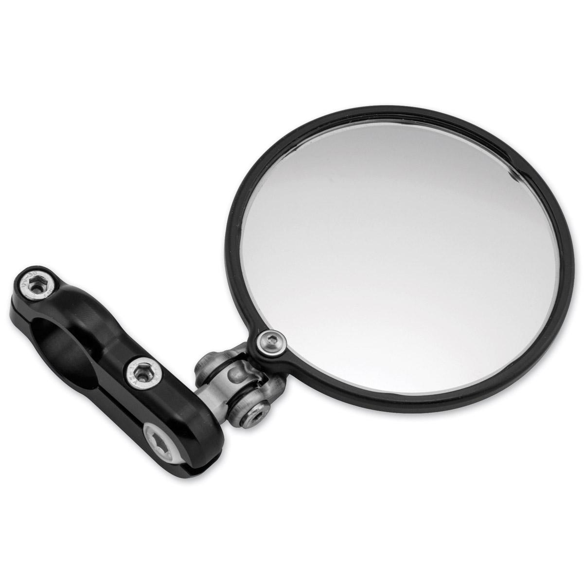 CRG 3″ Black Hindsight Lane Splitter Left Bar End Mirror