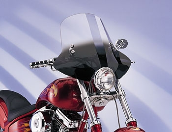Memphis Shades Demon Gradient Black Handlebar Mount Windshield
