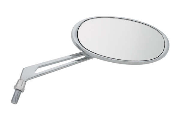 J&P Cycles® Chrome Custom Oval Mirrors