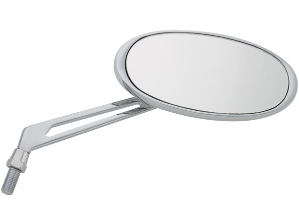 J&P Cycles® Black/Chrome Custom Oval Mirrors