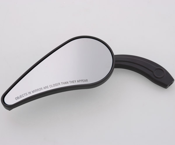 J&P Cycles® Black Speed Line Custom Teardrop Mirrors
