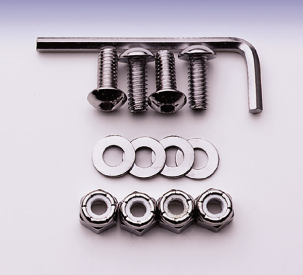 J&P Cycles® Stainless License Plate Mount Kit