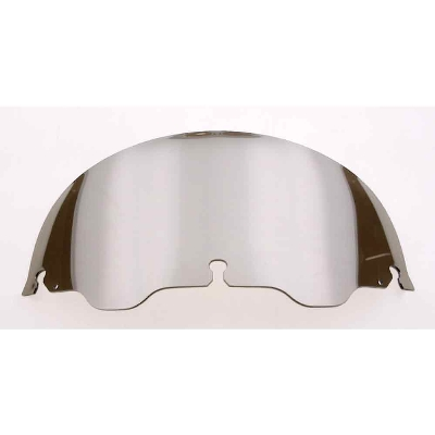 J&P Cycles® Air-Blade 6″ Chrome Smoke Polycarbonate Replacement Windshield