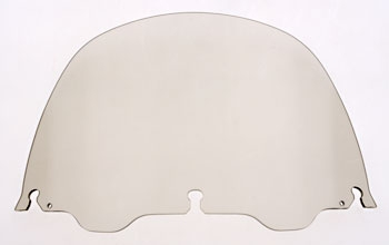 J&P Cycles® Air-Blade 13″ Smoke Acrylic Replacement Windshield
