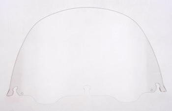 J&P Cycles® Air-Blade 13″ Clear Acrylic Replacement Windshield