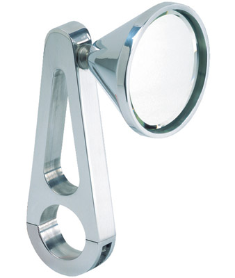 Jaybrake Billet Clamp-On Mirror for 1-1/4″ Handlebars