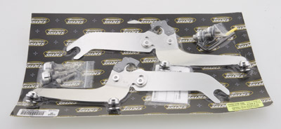 Memphis Shades Sportshield Polished Trigger-Lock Mount Kit - Models With Lightbar