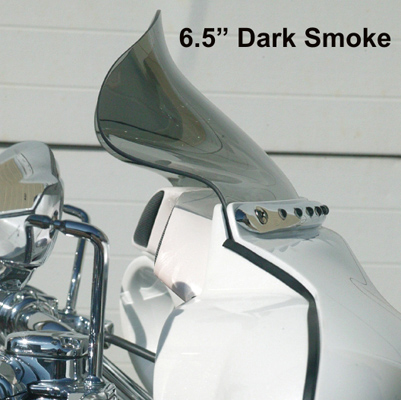 Klock Werks 6-1/2″ Dark Smoke Flare Windshield