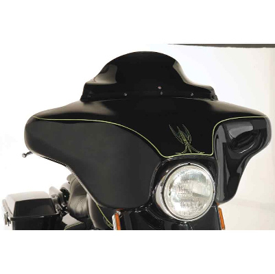 Klock Werks 6-1/2″ Black Flare Windshield