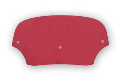 Memphis Shades Batwing Fairing 5″ Solid Ruby Windshield