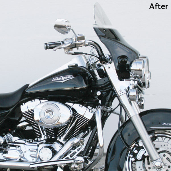 Arlen Ness Gloss Black Windshield Skin for Road King
