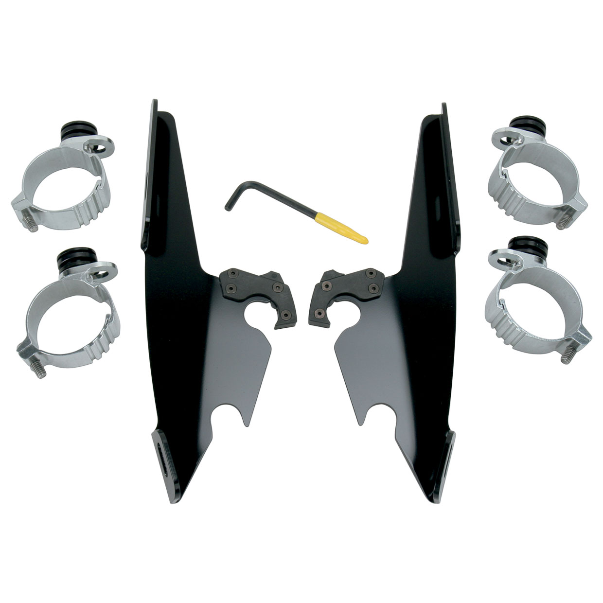 Memphis Shades Batwing Fairing and Fats/Slims Black Trigger-Lock Mount Kit
