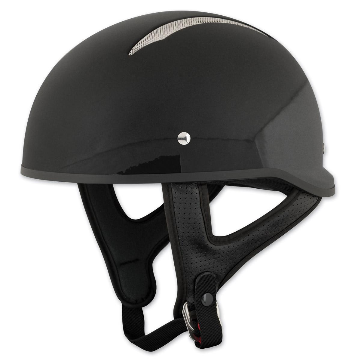 Speed and Strength SS310 Solid Speed Gloss Black Half Helmet