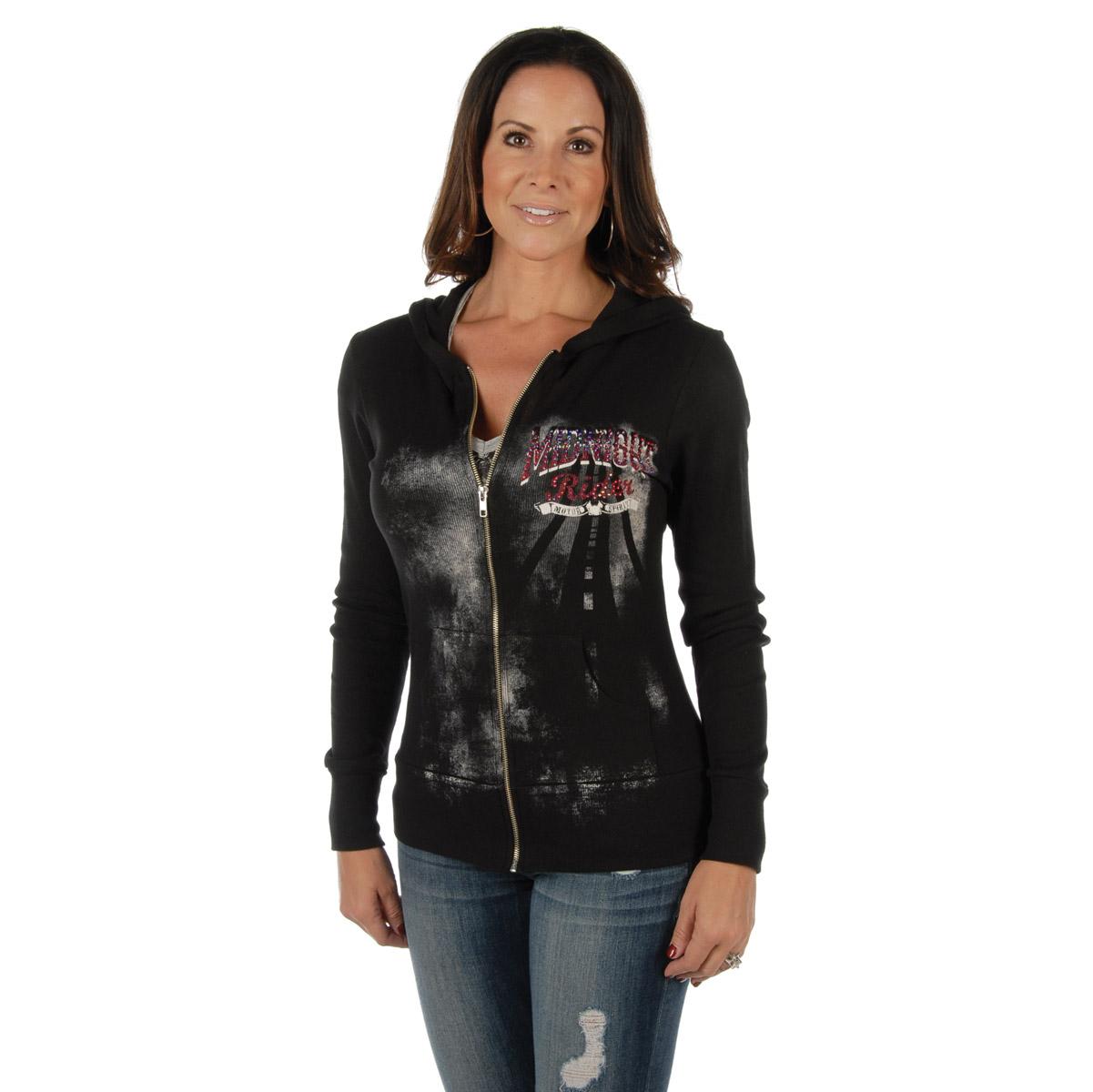 Liberty Wear Women's Midnight Rider Black Hoodie