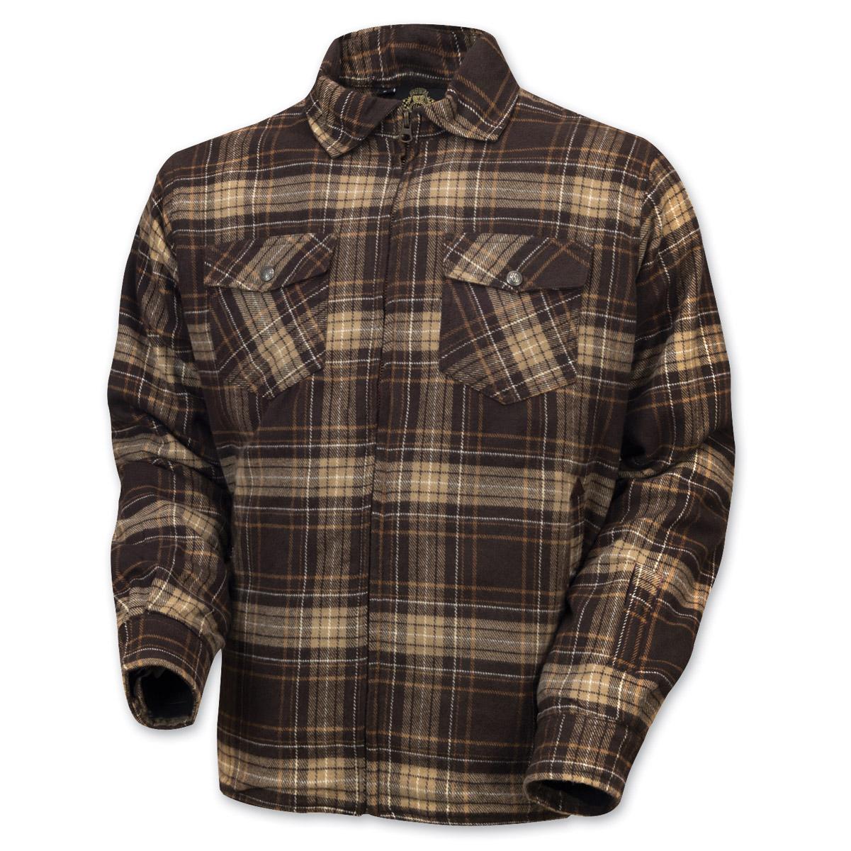 Roland Sands Design Men's Stoddard Brown Plaid Long Sleeve Shirt