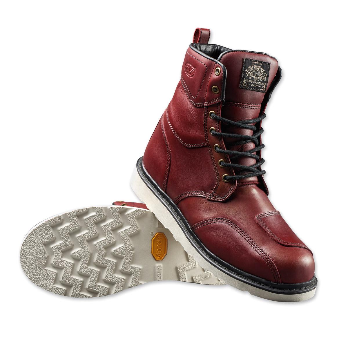 Roland Sands Design Men's Mojave Oxblood Leather Boots