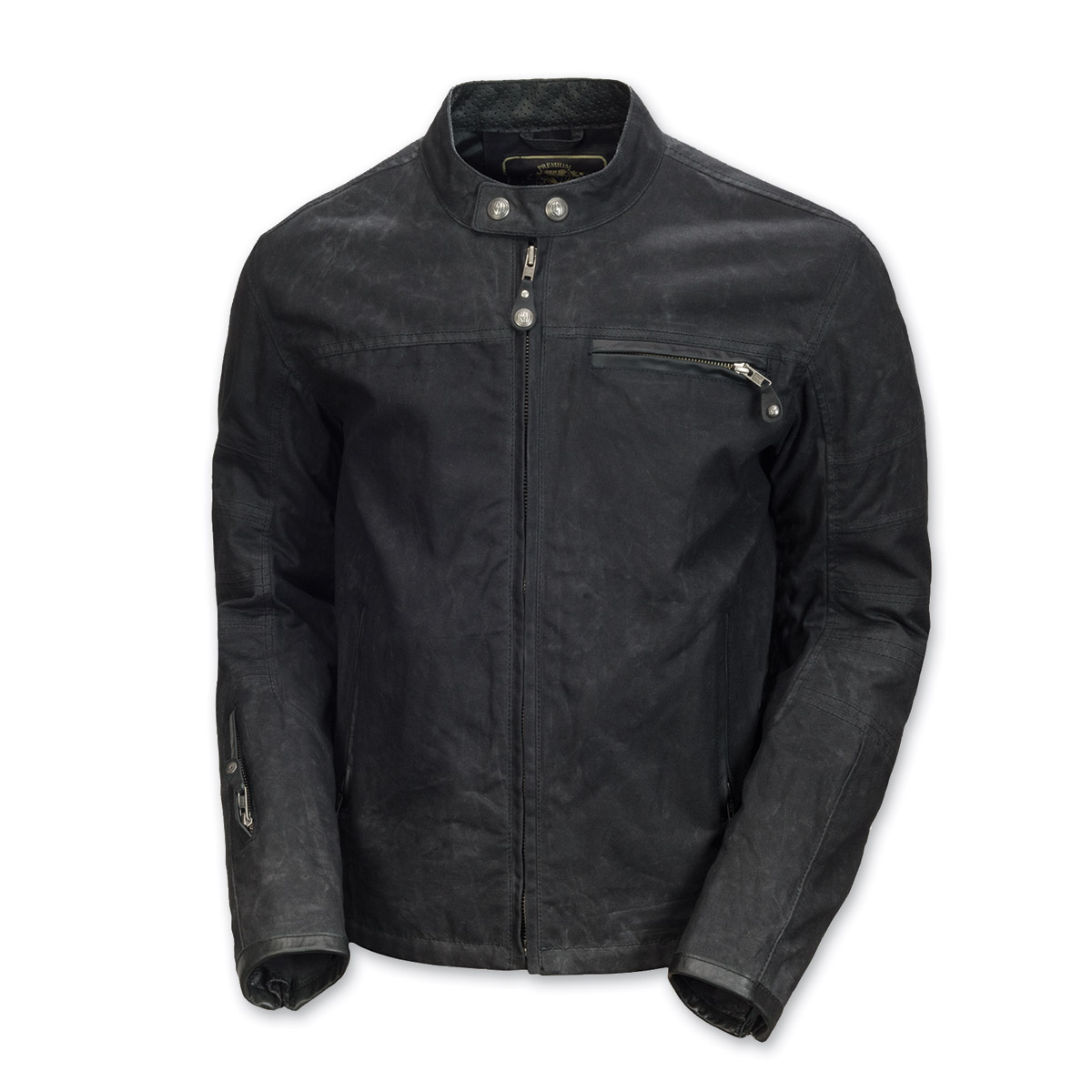 Roland Sands Design Men's Ronin Black Waxed Cotton Jacket