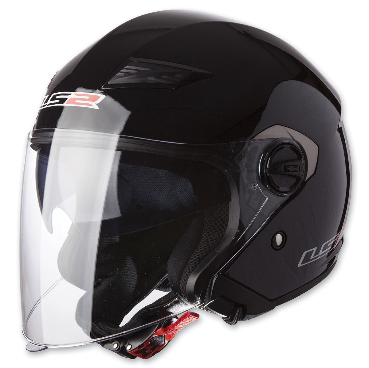 LS2 Track 569 Solid Gloss Black Open Face Helmet