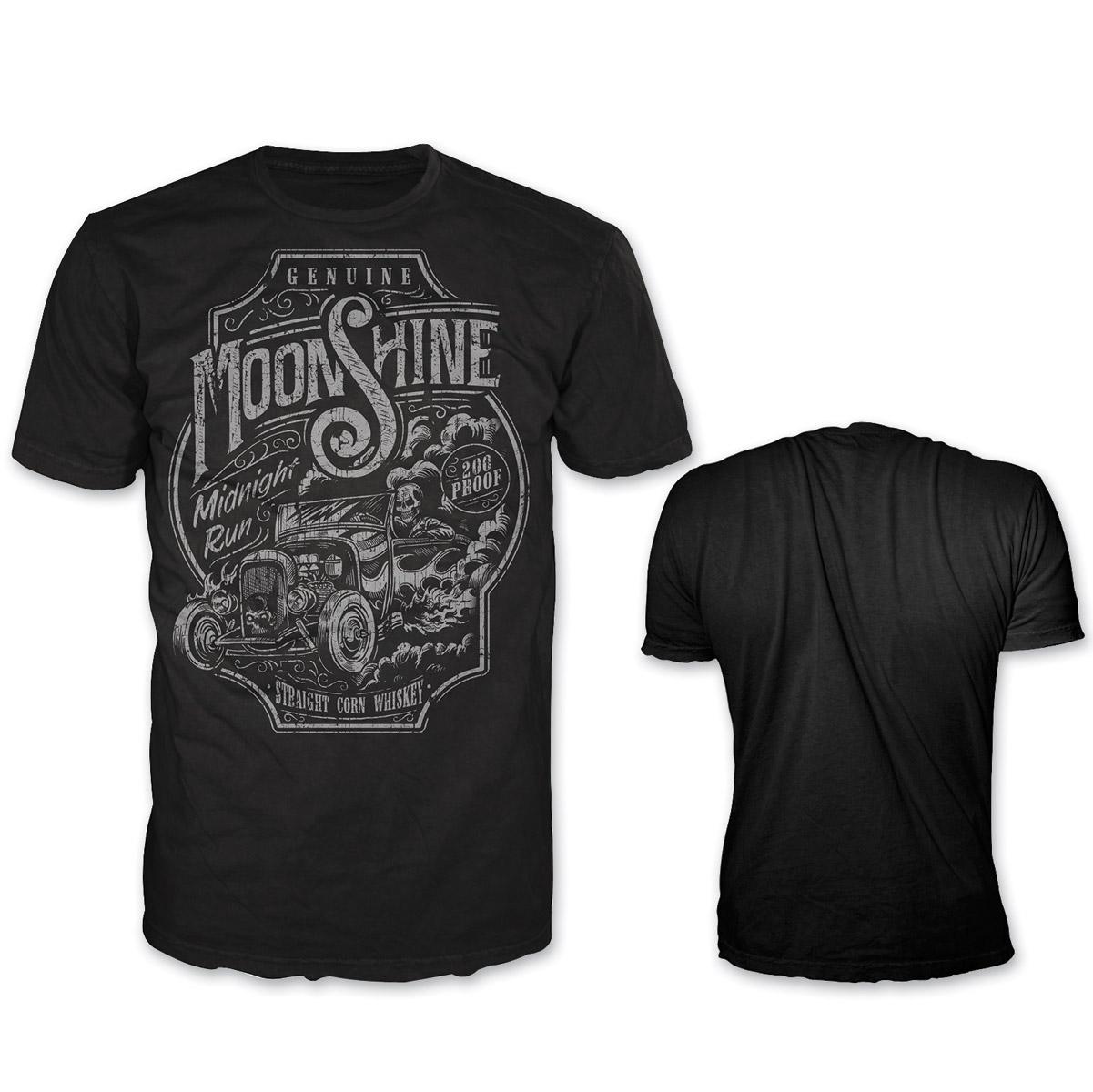 Lethal Threat Highway Outlaw Men's Midnight Run Black T-Shirt