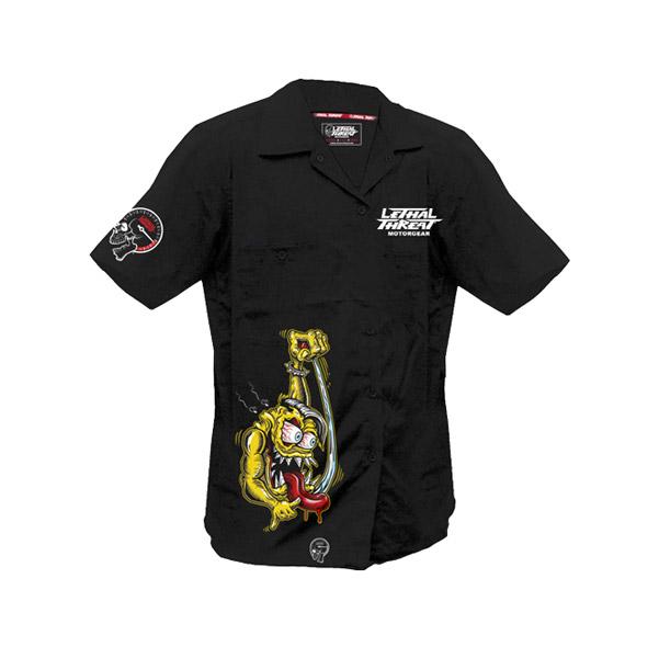 Lethal Threat Men's Shifter Monster Black Work Shirt