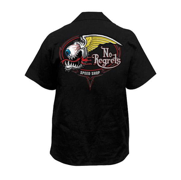 Lethal Threat Men's No Regrets Speed Shop Black Work Shirt