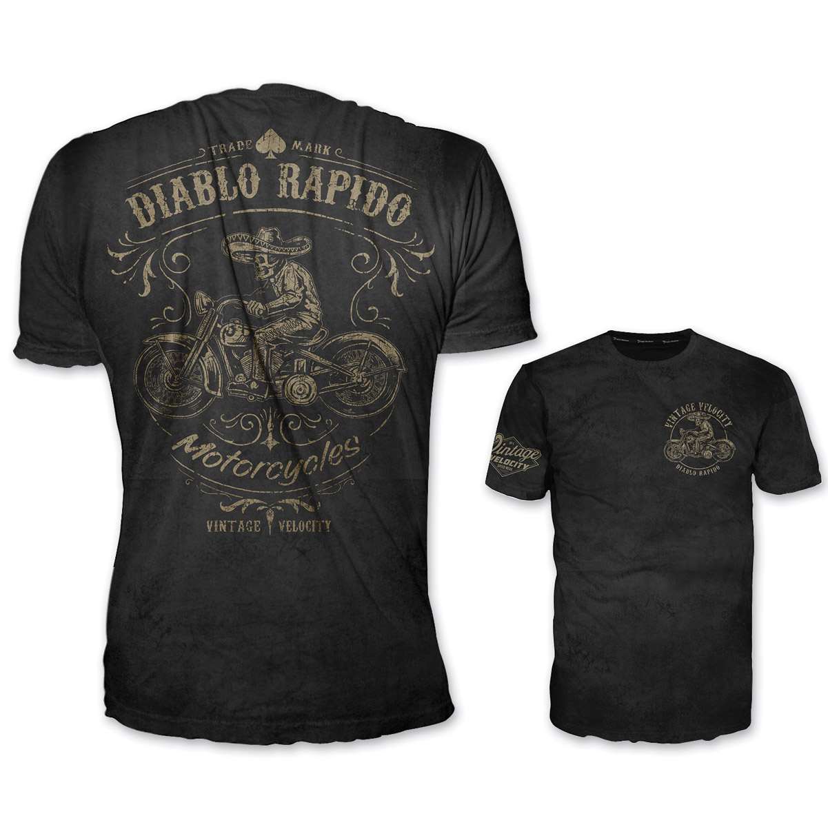 Lethal Threat Vintage Velocity Men's Diablo Rapido Black T-Shirt