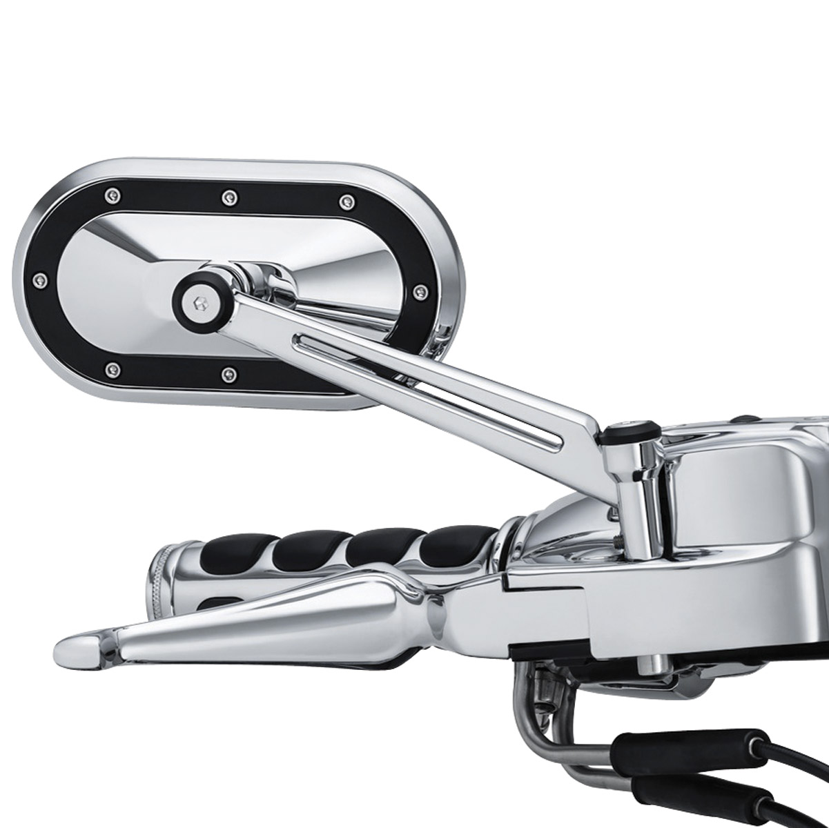 CHROME REAR VIEW MIRROR WITH TWISTED CAGE ACCENT LOWRIDER  BEACH CRUISER BIKE