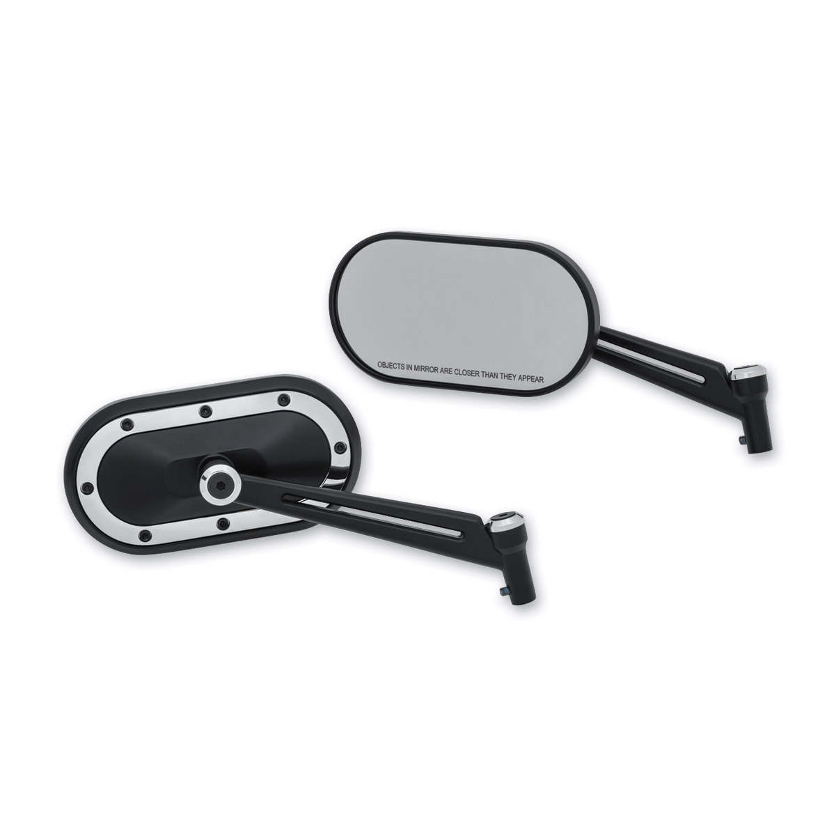 Kuryakyn Heavy Industry Black Mirror with Chrome Accents