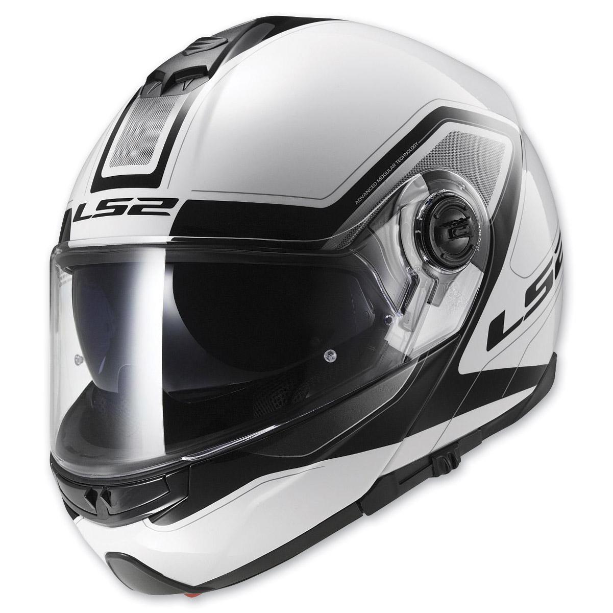 LS2 Strobe Civic White Modular Helmet