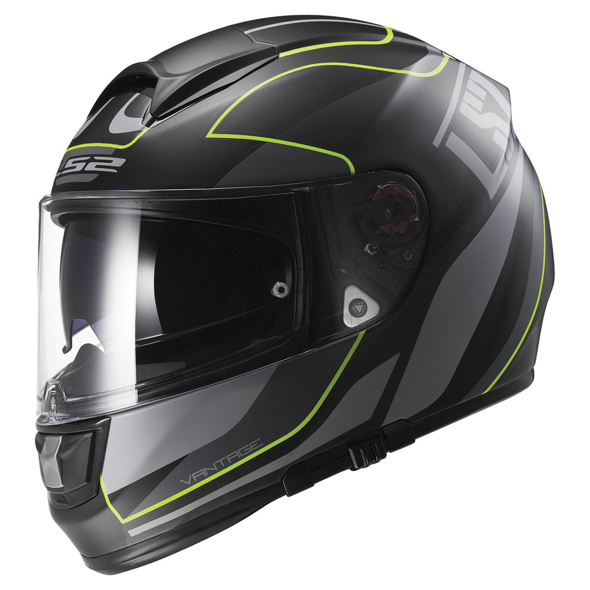 LS2 Citation Vantage Matte Black/Yellow Full Face Helmet