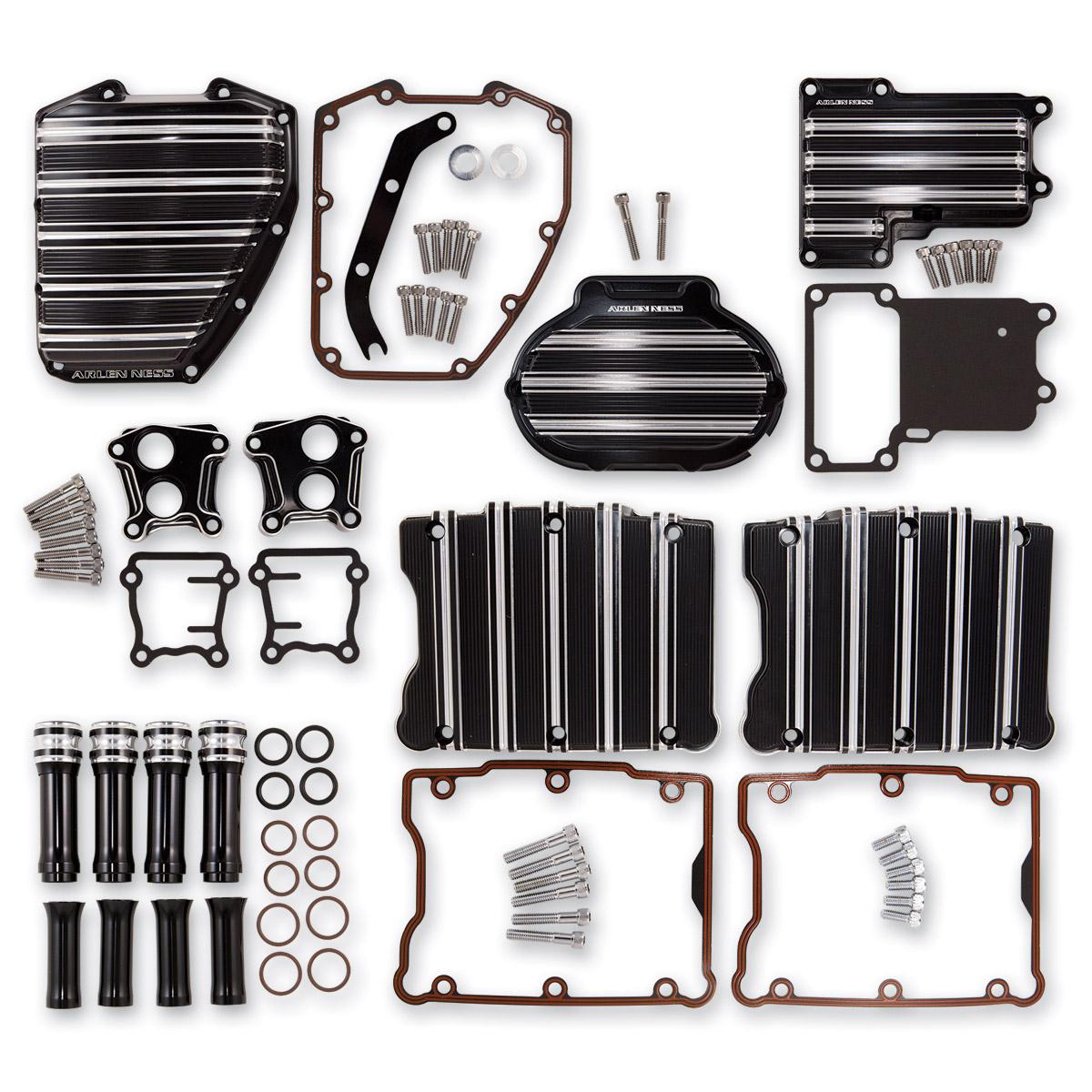 Arlen Ness 10-Gauge Black Motor Transmission Package