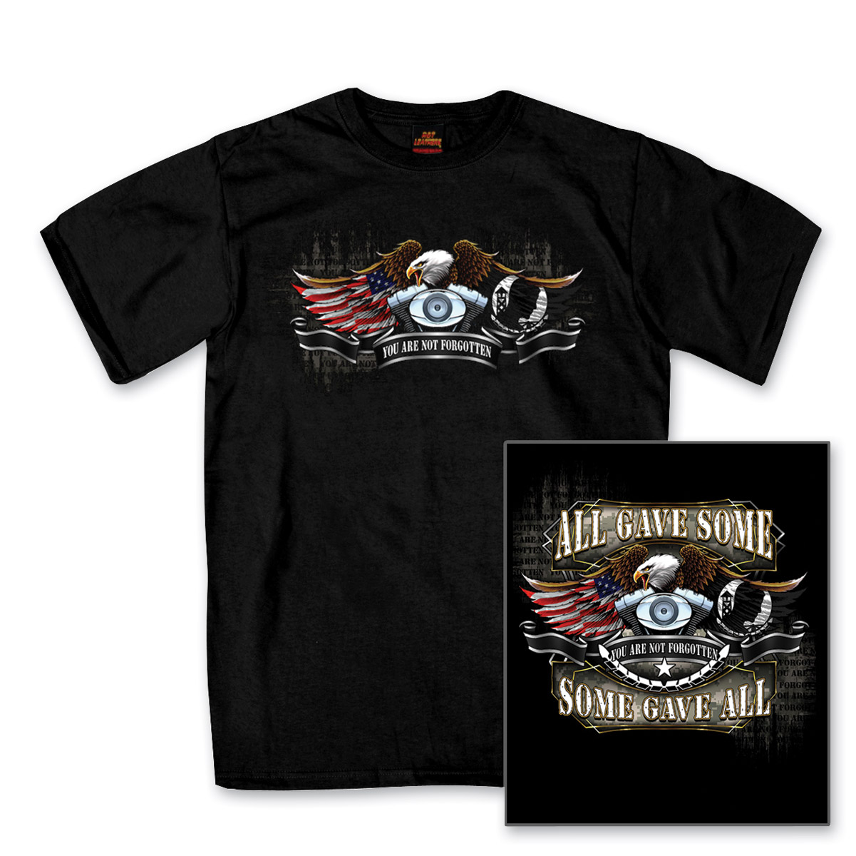 Hot Leathers Men's All Gave Some, Some Gave All Black T-Shirt