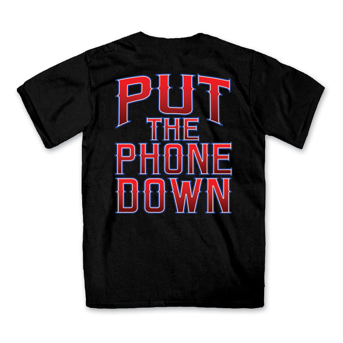 Hot Leathers Men's Put The Phone Down Black T-Shirt