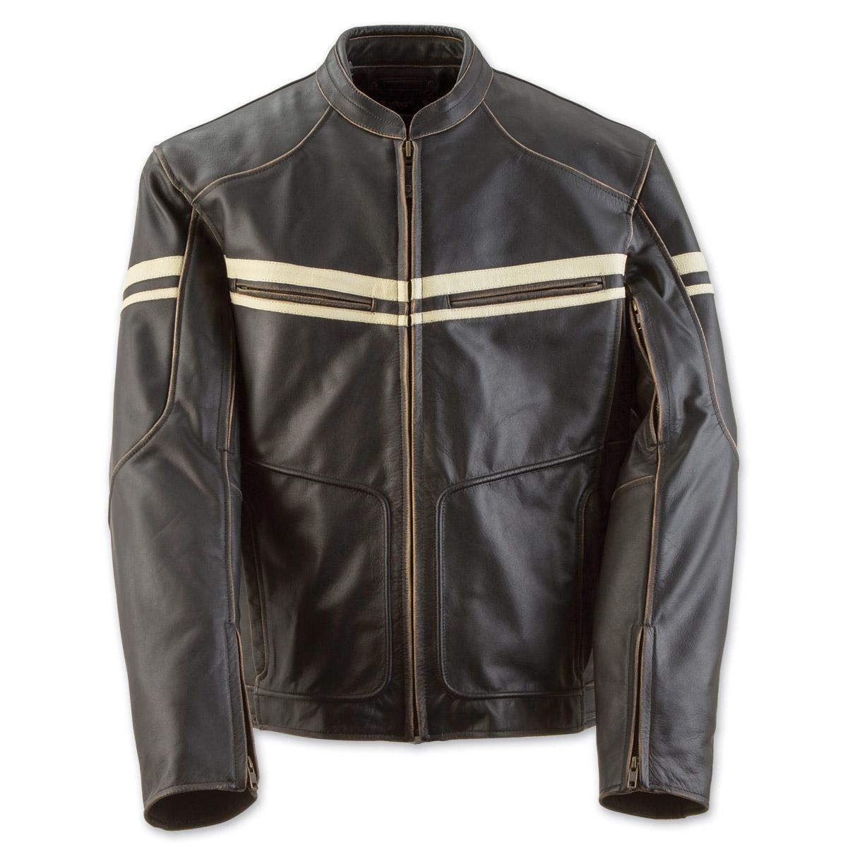 Black Brand Men's Cutthroat Brown Leather Jacket