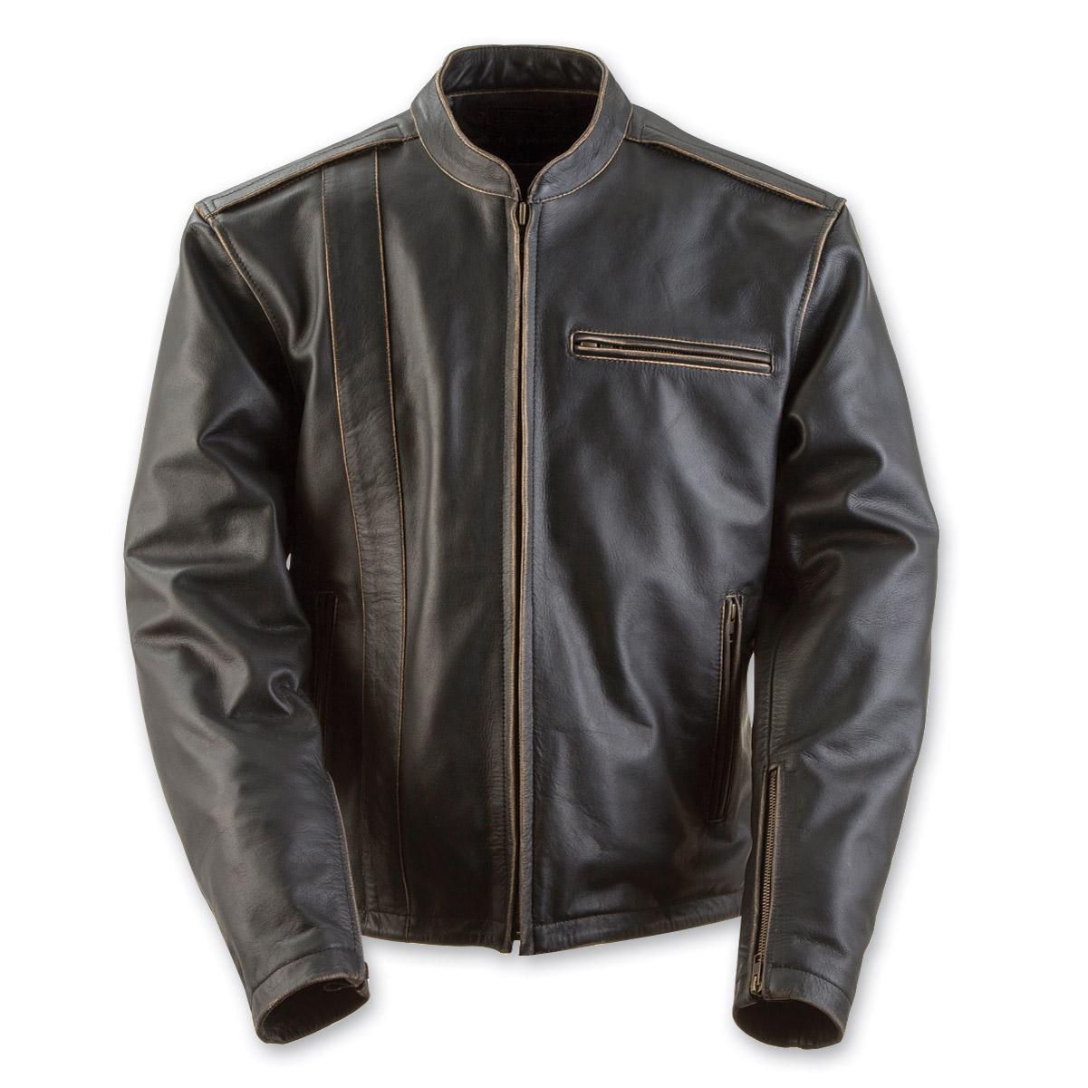 Black Brand Men's Compression Black Leather Jacket