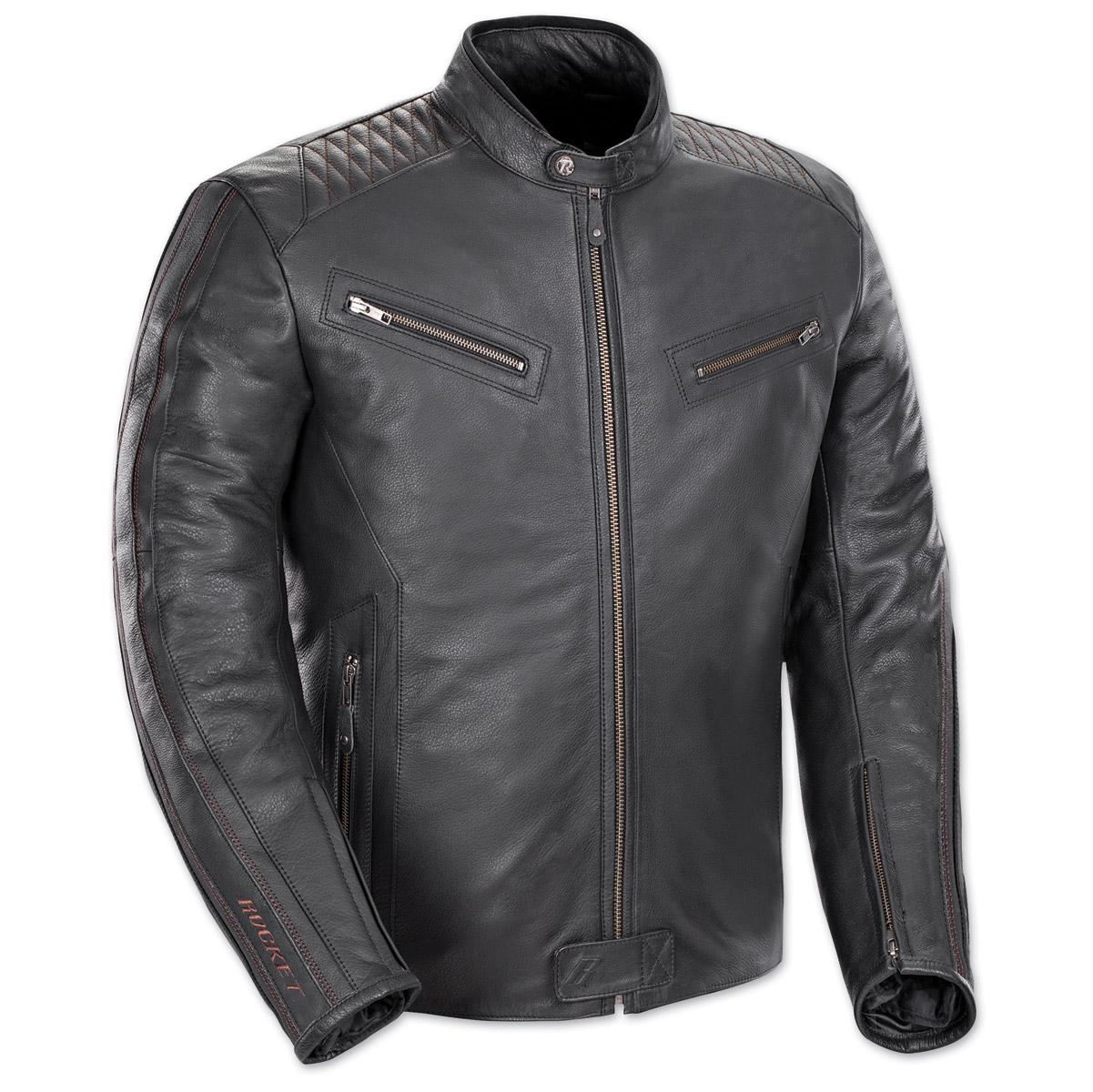 Joe Rocket Men's Vintage Rocket Black/Black Leather Jacket