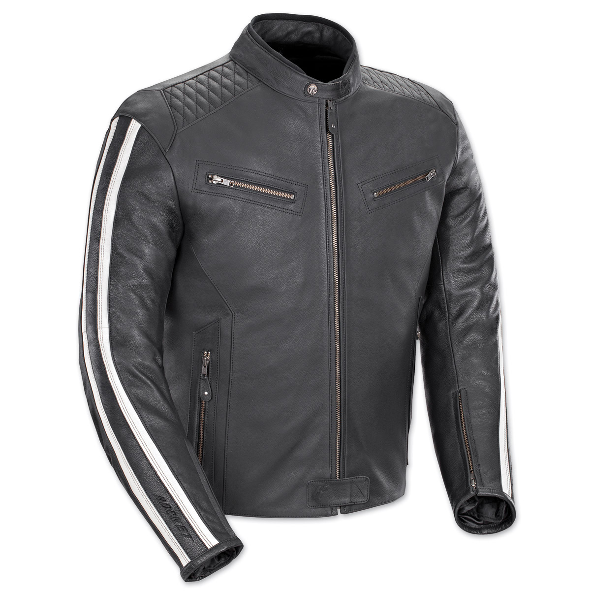 Joe Rocket Men's Vintage Rocket Black/White Leather Jacket